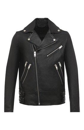 Мужская кожаная куртка DIESEL черного цвета, арт. A00040/0KAZC   Фото 1
