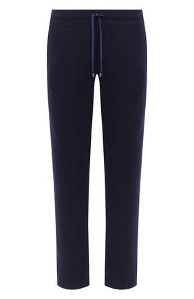 Мужской брюки из хлопка и кашемира CAPOBIANCO темно-синего цвета, арт. 9M722.LB00. | Фото 1