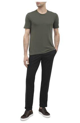 Мужской брюки CAPOBIANCO черного цвета, арт. 9M805.IN00. | Фото 2