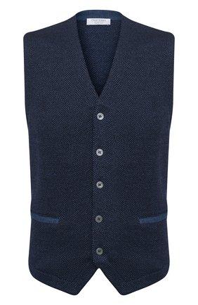 Мужской шерстяной жилет GRAN SASSO синего цвета, арт. 57117/14229 | Фото 1