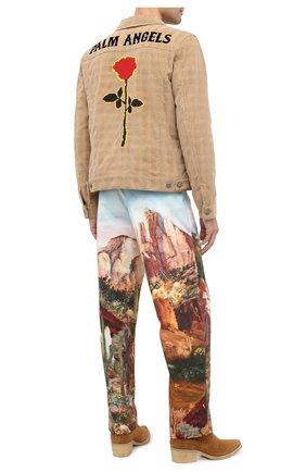 Мужские кожаные казаки AMIRI коричневого цвета, арт. F0F20424SU | Фото 2