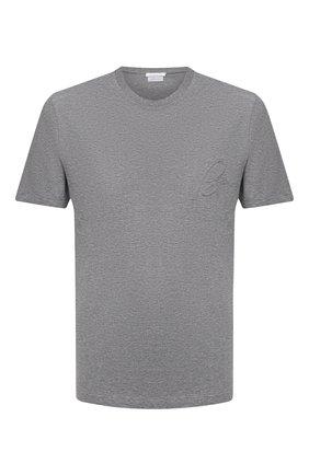 Мужская хлопковая футболка BRIONI серого цвета, арт. UJCH0L/09626 | Фото 1