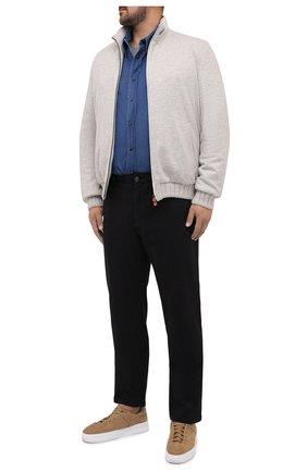 Мужская хлопковая футболка BRIONI серого цвета, арт. UJCH0L/09626 | Фото 2