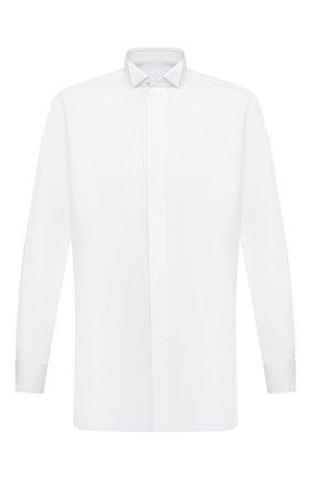 Мужская хлопковая сорочка BRIONI белого цвета, арт. RCX60M/PZ016 | Фото 1