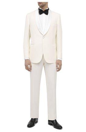 Мужская хлопковая сорочка BRIONI белого цвета, арт. RCX60M/PZ016 | Фото 2