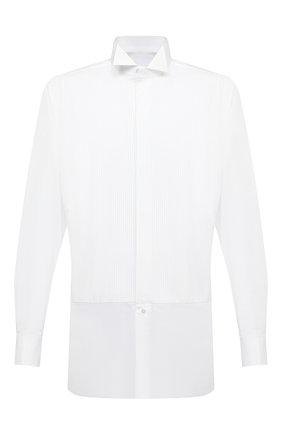 Мужская хлопковая сорочка BRIONI белого цвета, арт. RCX10M/0Z022 | Фото 1