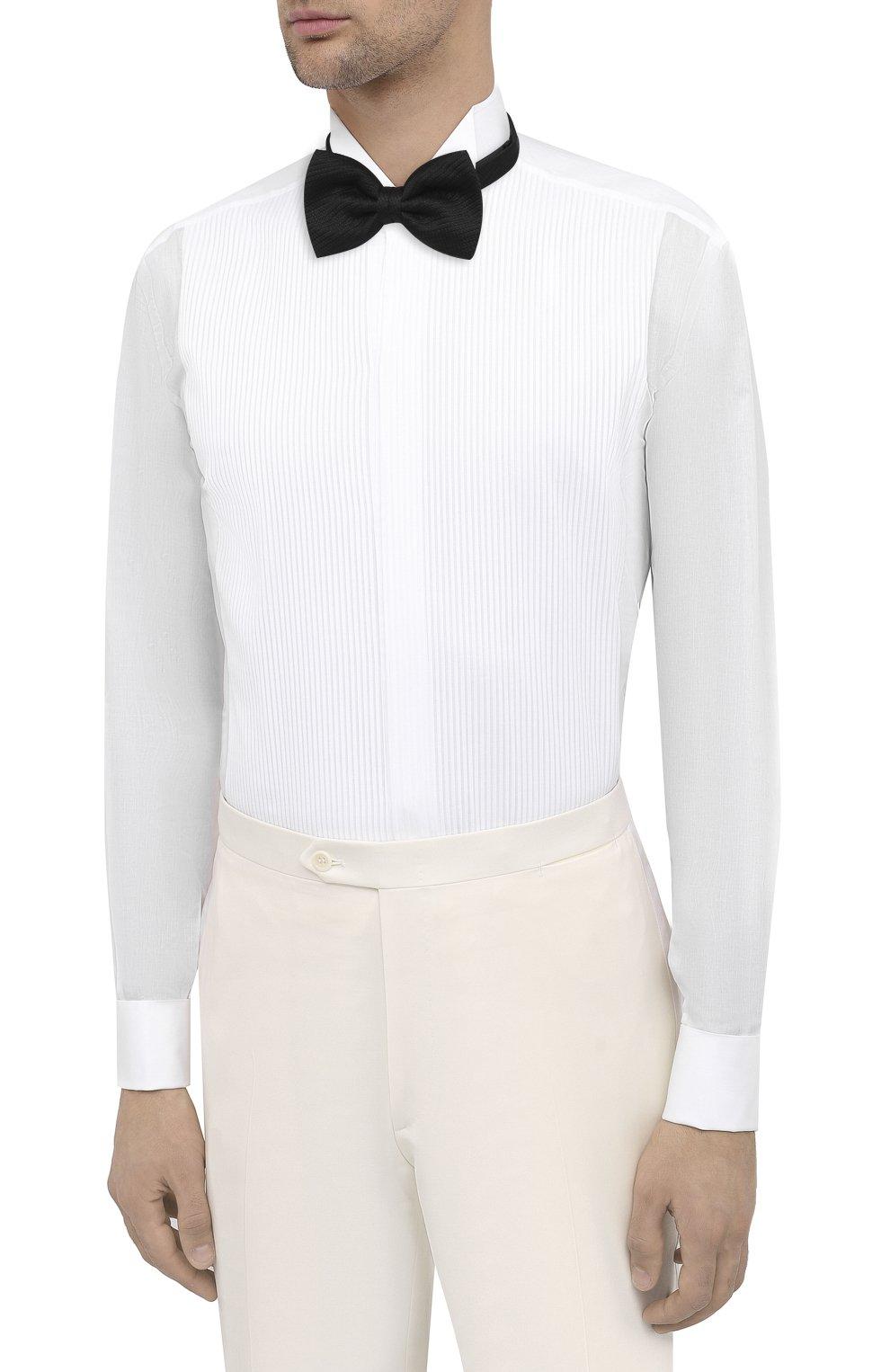 Мужская хлопковая сорочка BRIONI белого цвета, арт. RCX10M/0Z022 | Фото 4