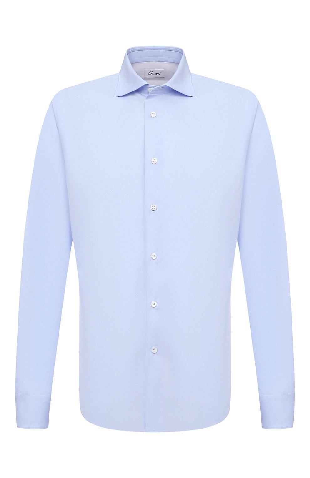 Мужская хлопковая сорочка BRIONI голубого цвета, арт. RCT10L/090C9   Фото 1