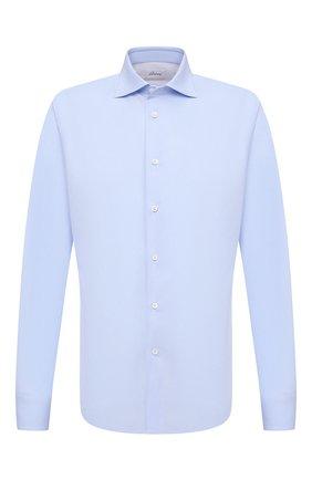 Мужская хлопковая сорочка BRIONI голубого цвета, арт. RCT10L/090C9 | Фото 1