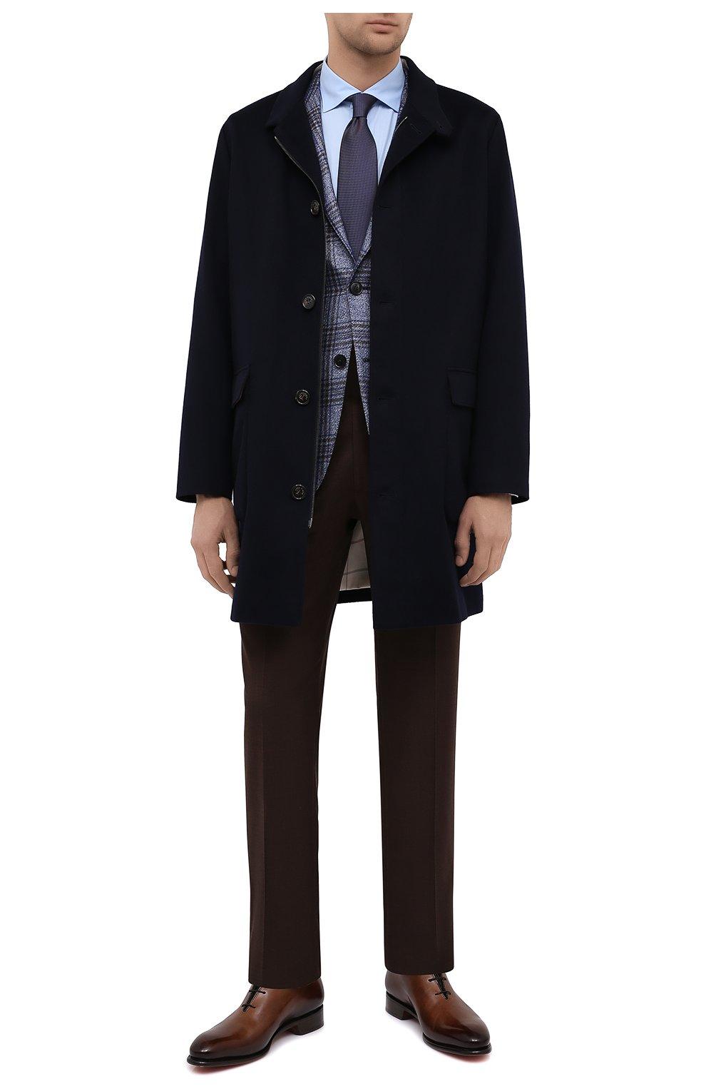 Мужская хлопковая сорочка BRIONI голубого цвета, арт. RCT10L/090C9   Фото 2