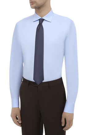 Мужская хлопковая сорочка BRIONI голубого цвета, арт. RCT10L/090C9   Фото 4
