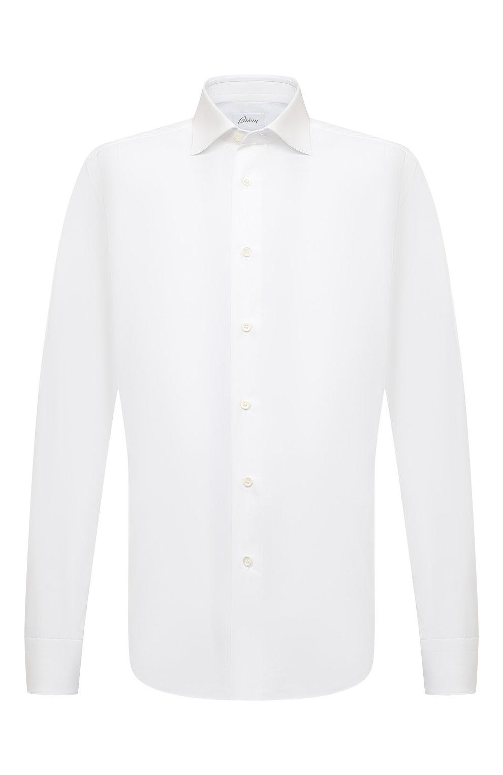 Мужская хлопковая сорочка BRIONI белого цвета, арт. RCT10L/090C9   Фото 1