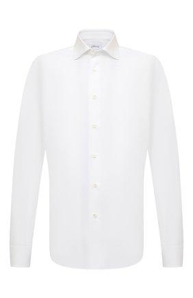 Мужская хлопковая сорочка BRIONI белого цвета, арт. RCT10L/090C9 | Фото 1