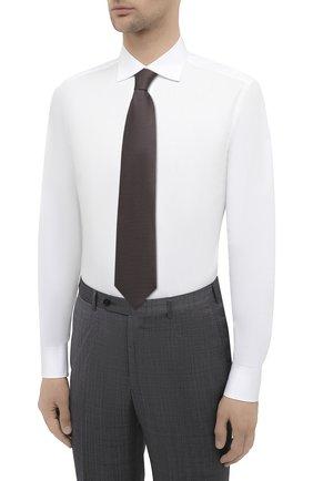 Мужская хлопковая сорочка BRIONI белого цвета, арт. RCT10L/090C9   Фото 4
