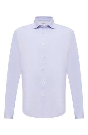 Мужская хлопковая сорочка BRIONI голубого цвета, арт. RCT10L/0904A | Фото 1