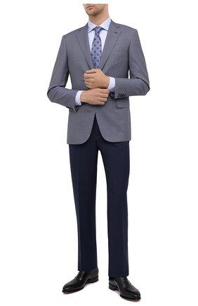 Мужская хлопковая сорочка BRIONI голубого цвета, арт. RCT10L/0904A | Фото 2