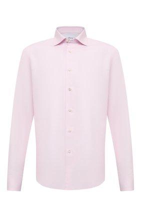 Мужская хлопковая сорочка BRIONI розового цвета, арт. RCT10L/0904A | Фото 1