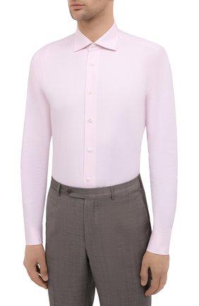 Мужская хлопковая сорочка BRIONI розового цвета, арт. RCT10L/0904A | Фото 3