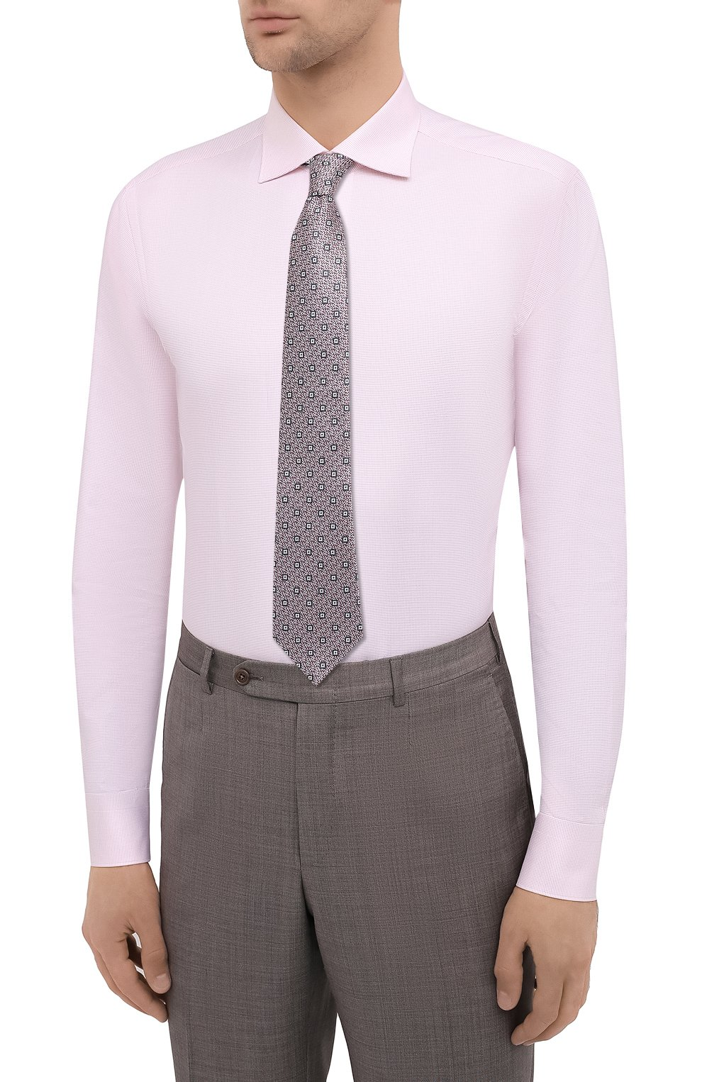 Мужская хлопковая сорочка BRIONI розового цвета, арт. RCT10L/0904A | Фото 4