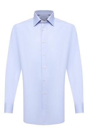 Мужская хлопковая сорочка BRIONI голубого цвета, арт. RCA20M/0909Q | Фото 1