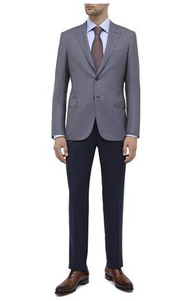 Мужская хлопковая сорочка BRIONI голубого цвета, арт. RCA20M/0909Q | Фото 2