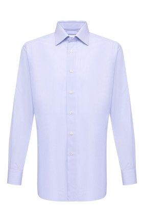 Мужская хлопковая сорочка BRIONI голубого цвета, арт. RCA20M/0904C | Фото 1