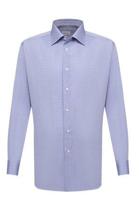 Мужская хлопковая сорочка BRIONI синего цвета, арт. RCA20L/P905C | Фото 1