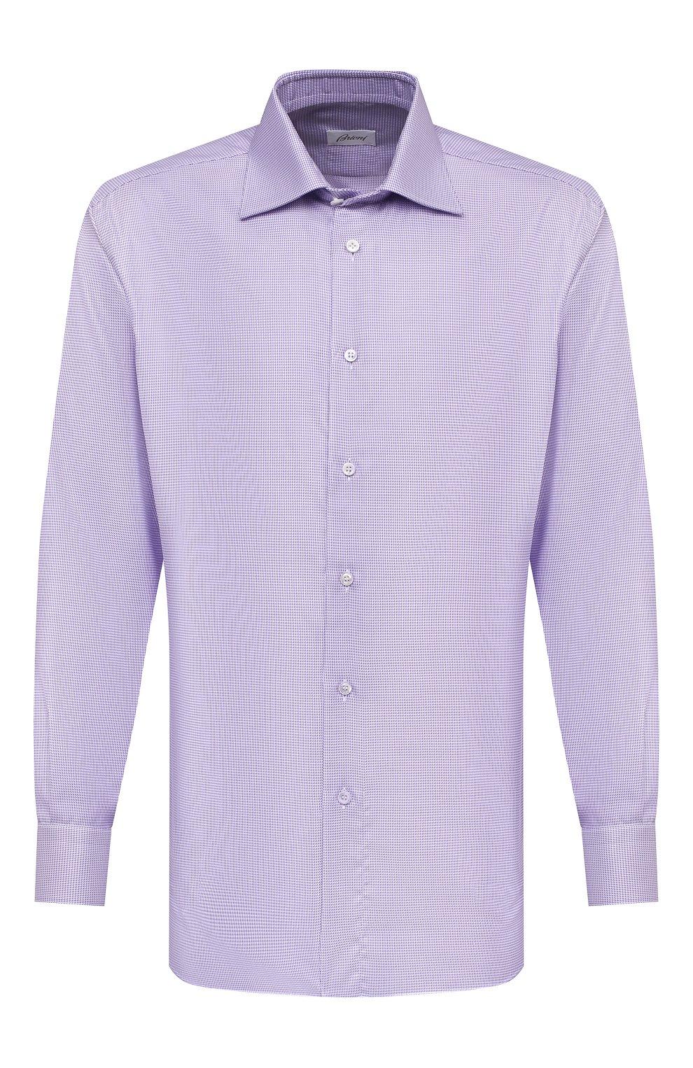 Мужская хлопковая сорочка BRIONI сиреневого цвета, арт. RCA20L/0909Z | Фото 1