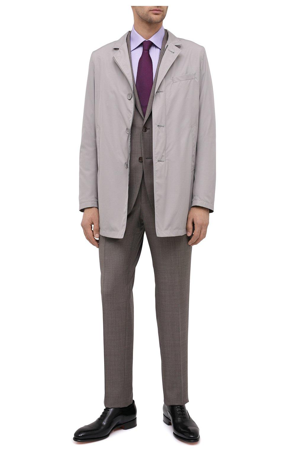 Мужская хлопковая сорочка BRIONI сиреневого цвета, арт. RCA20L/0909Z | Фото 2
