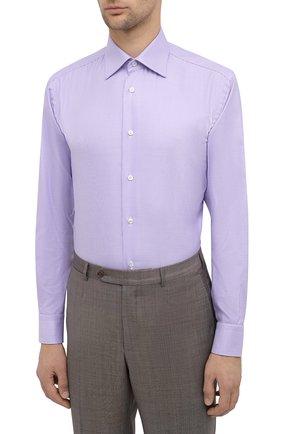 Мужская хлопковая сорочка BRIONI сиреневого цвета, арт. RCA20L/0909Z | Фото 3