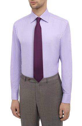 Мужская хлопковая сорочка BRIONI сиреневого цвета, арт. RCA20L/0909Z | Фото 4