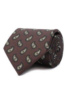 Мужской комплект из галстука и платка BRIONI коричневого цвета, арт. 08A900/0943E | Фото 1