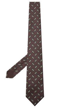Мужской комплект из галстука и платка BRIONI коричневого цвета, арт. 08A900/0943E | Фото 2