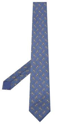 Мужской комплект из галстука и платка BRIONI голубого цвета, арт. 08A900/0943E   Фото 2 (Материал: Текстиль)