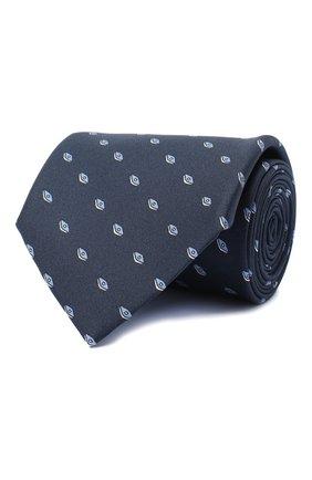 Мужской комплект из галстука и платка BRIONI темно-синего цвета, арт. 08A900/0940W   Фото 1 (Материал: Текстиль)
