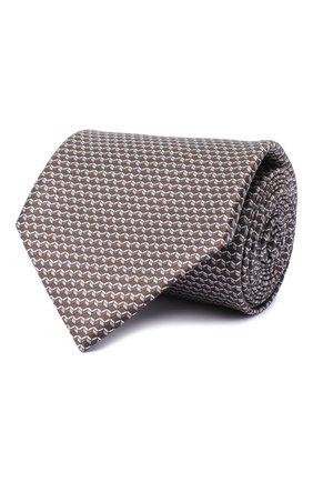 Мужской комплект из галстука и платка BRIONI коричневого цвета, арт. 08A900/0940C | Фото 1