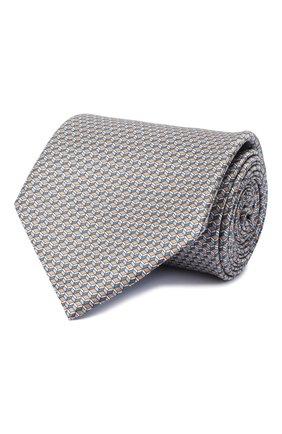 Мужской комплект из галстука и платка BRIONI светло-коричневого цвета, арт. 08A900/0940C | Фото 1