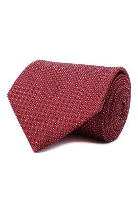 Мужской шелковый галстук BRIONI красного цвета, арт. 062I00/09458 | Фото 1