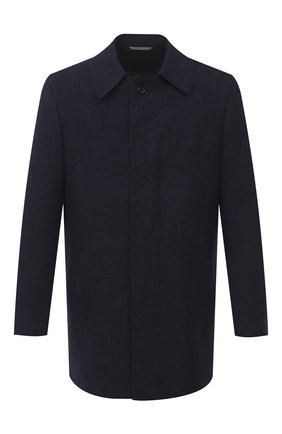 Мужской пальто из шерсти и кашемира CANALI темно-синего цвета, арт. 58942/FF02829 | Фото 1