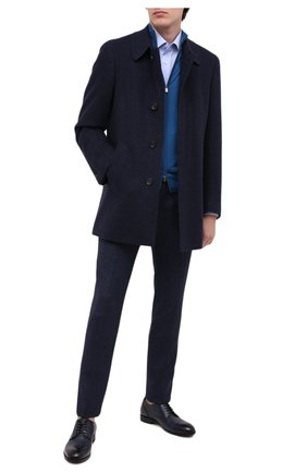 Мужской пальто из шерсти и кашемира CANALI темно-синего цвета, арт. 58942/FF02829 | Фото 2