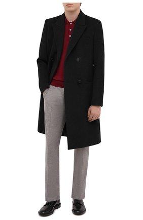 Мужское шерстяное поло CANALI бордового цвета, арт. C0017/MK00077   Фото 2