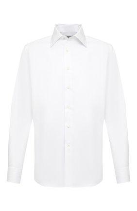 Мужская хлопковая сорочка CANALI белого цвета, арт. 705/GA00109 | Фото 1