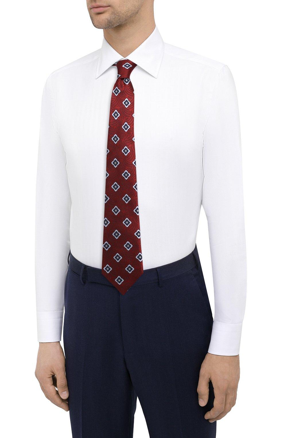 Мужская хлопковая сорочка CANALI белого цвета, арт. 705/GA00109   Фото 4