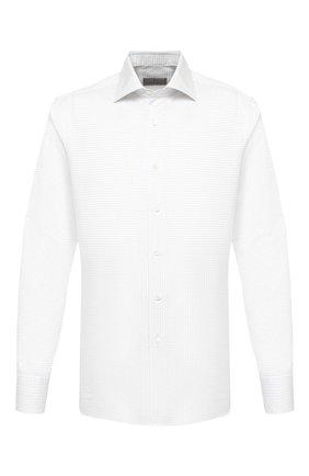 Мужская хлопковая сорочка CANALI белого цвета, арт. X58/GD00639 | Фото 1