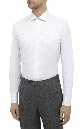 Мужская хлопковая сорочка CANALI белого цвета, арт. X58/GD00639 | Фото 3