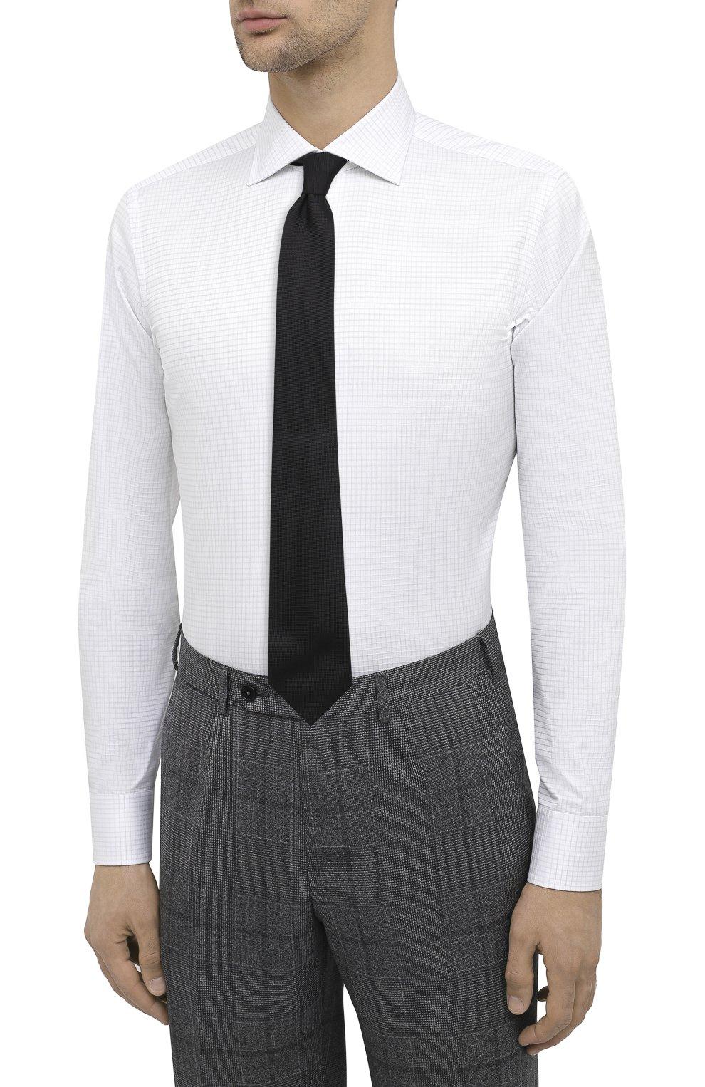 Мужская хлопковая сорочка CANALI белого цвета, арт. X58/GD00639 | Фото 4