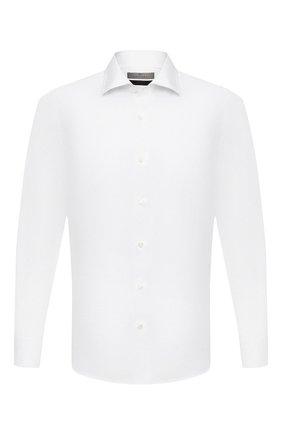 Мужская хлопковая сорочка CANALI белого цвета, арт. XX18/GX02030 | Фото 1