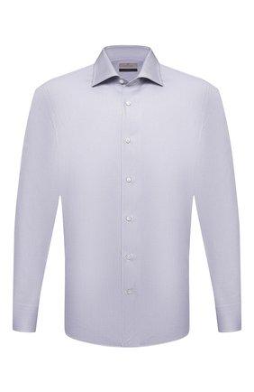 Мужская хлопковая сорочка CANALI светло-серого цвета, арт. XX18/GX02030 | Фото 1