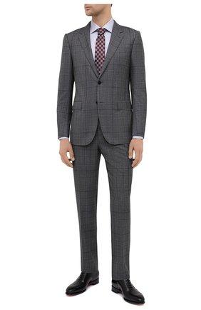 Мужская хлопковая сорочка CANALI светло-серого цвета, арт. XX18/GX02030 | Фото 2