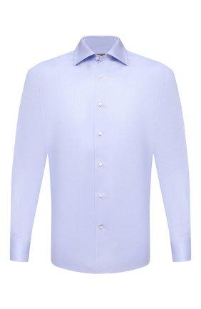 Мужская хлопковая сорочка CANALI голубого цвета, арт. XX18/GX02030   Фото 1 (Материал внешний: Хлопок; Рукава: Длинные; Длина (для топов): Стандартные; Случай: Формальный; Стили: Классический)